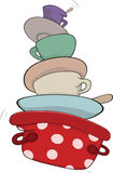 Kitchenware cartoon Royalty Free Stock Images