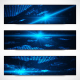 Set of bright digital banners Stock Photography