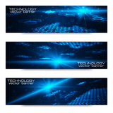 Set of bright digital banners Royalty Free Stock Images