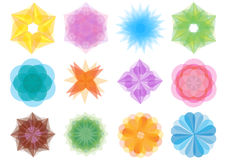 Set of bright elements Royalty Free Stock Photo