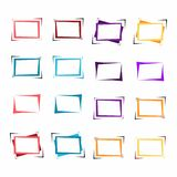 Set of bright frames for text or banner. Royalty Free Stock Photography