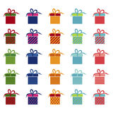 Set of bright gifts,  illustration Royalty Free Stock Image