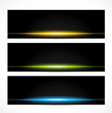 Set of bright glowing banners Royalty Free Stock Photos