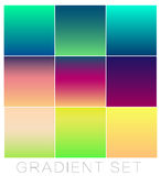 Set of bright gradients for the background. Color Collection Royalty Free Stock Photo