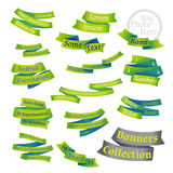 Set of bright labels and ribbons. Royalty Free Stock Images