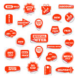 Set of bright labels, vector illustration. Royalty Free Stock Photo