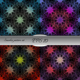 Set of bright lace-like seamless patterns. Nice hand-drawn illustration Royalty Free Stock Images