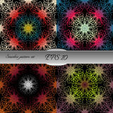 Set of bright lace-like seamless patterns. Nice hand-drawn illustration Stock Images