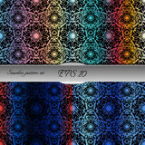 Set of bright lace-like seamless patterns. Nice hand-drawn illustration Royalty Free Stock Photos