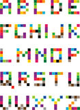 Set of bright mosaic letters Stock Images