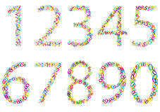Set of bright numbers Stock Photos