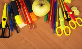 Set of bright office tools Royalty Free Stock Photos