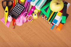Set of bright office tools Stock Photography