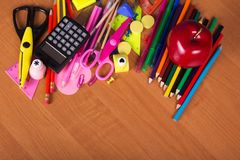 Set of bright office tools Royalty Free Stock Photography