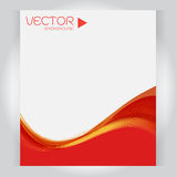 Set Bright orange background. Abstract colorful illustration with ci Royalty Free Stock Images