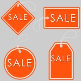 Set of Bright Orange-White Sale Banners. Label and Sign. Vector Royalty Free Stock Images