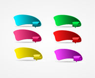 Set of bright ribbon banners for your business Royalty Free Stock Photography