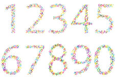 Set of bright scribble numbers Royalty Free Stock Photo