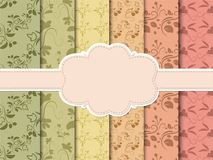Set of bright seamless backgrounds for your design. Illustration Stock Photography