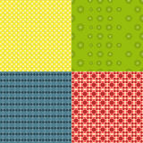 Set of bright seamless pattern Royalty Free Stock Image