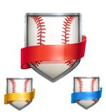 Set of Bright shield in the baseball ball inside Royalty Free Stock Image