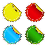 Set of bright stickers Stock Photos