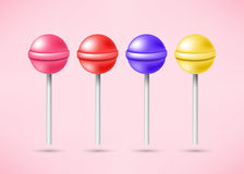 Set of bright sweet lollipops Royalty Free Stock Photo