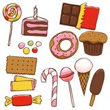 Set of bright sweets Royalty Free Stock Image
