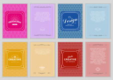 Set of Bright Vintage Labels Stock Photos