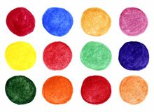 Set of bright watercolor spots Royalty Free Stock Images