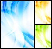 Set of bright wavy backgrounds Royalty Free Stock Images