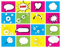 Set of brightly colored speech bubbles Stock Images