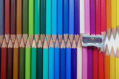 Set of brightly coloured pencils Stock Image