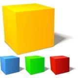 Set of brignt colored cubes Stock Photos