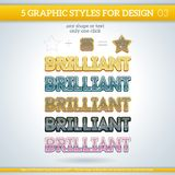 Set of Brilliant Graphic Styles for Design. Stock Photo