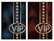 Set brilliant VIP cards Stock Image