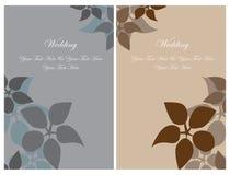 set bröllop för kortinbjudan Fotografering för Bildbyråer