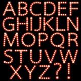 Set Broadway-Glühlampezeichen getrennt lizenzfreie abbildung
