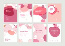 Set of brochure, annual report and cover design templates for beauty royalty free stock images