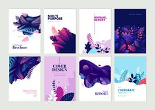 Set of brochure, annual report and cover design templates stock photography