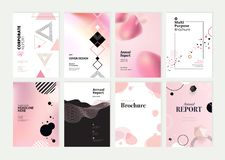 Set of brochure, annual report and cover design templates royalty free stock photography