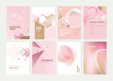 Set of brochure, annual report and cover design templates stock photos