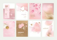 Set of brochure, annual report and cover design templates royalty free stock image