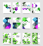 Set of brochure cover background, a4 template. Business presentation design layouts, brochure or flyer concepts or geometric web banners vector illustration