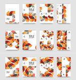Set of brochure cover background, a4 template. Business presentation design layouts, brochure or flyer concepts or geometric web banners stock illustration