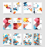 Set of brochure cover background, a4 template. Business presentation design layouts, brochure or flyer concepts or geometric web banners royalty free illustration