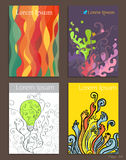 Set of Brochure Design abstract art. Abstract cover template Stock Photos