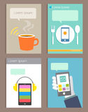 Set of Brochure Design modern life style Templates Stock Photos