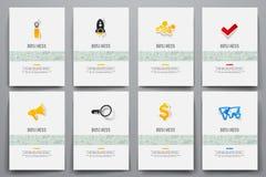 Set of brochure design templates. Vector graphics Stock Photography
