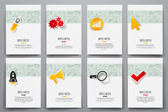 Set of brochure design templates. Vector graphics Royalty Free Stock Photography